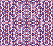 Modèle coloré sans couture moderne de la géométrie de vecteur Photos libres de droits
