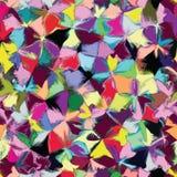 Modèle coloré souillé par grunge sans couture Image libre de droits