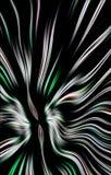 Modèle coloré unique d'bandes colorées onduleuses sur un fond noir Photographie stock libre de droits