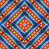 Modèle coloré vif chaud de laine pour l'album, montage sans couture de kaléidoscope pour le coussin, couverture, oreiller, plaid, Images stock