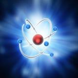Modèle conceptuel d'atome illustration de vecteur