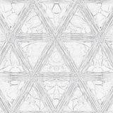 Modèle continu de triangles monochromes pour livre de coloriage illustration de vecteur