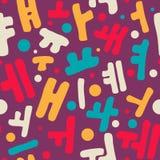 Modèle coréen d'alphabet Images stock