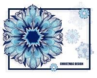 Modèle courant de Noël avec des flocons de neige calibre pour la voiture Photographie stock