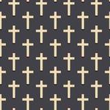 Modèle croisé chrétien Illustration simple de modèle croisé chrétien de vecteur pour le Web Religieux conversationnel illustration stock