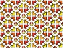 Modèle croisé coloré gai de textile images stock