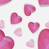 Modèle décoratif avec des formes de coeur Images libres de droits