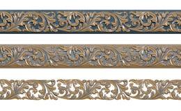Modèle décoratif avec la patine d'or Photo stock