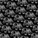 Modèle décoratif d'éléphant d'Asie illustration libre de droits