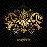Modèle décoratif d'or Image libre de droits