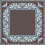 Modèle décoratif d'ornamental d'éléments de vue Images libres de droits