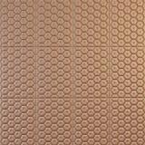 Modèle décoratif de cuir brun Images libres de droits