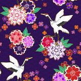 Modèle décoratif de kimono illustration de vecteur