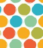 Modèle décoratif de peinture avec les cercles tirés Texture lumineuse sans couture Photo libre de droits