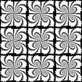 Modèle décoratif monochrome sans couture de conception Photos stock