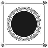 Modèle décoratif ornemental de cadre de style grec Ornement grec Paquet antique de cadre de vecteur Modèles d'élément de décorati Image stock