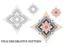 Modèle décoratif thaïlandais Photos stock