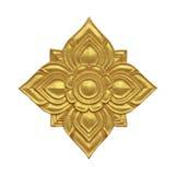 Modèle décoratif thaïlandais d'or photographie stock