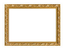 Modèle découpé en bois de cadre de cadre de tableau d'isolement sur le dos de blanc Photo stock