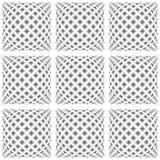 Modèle déformé par monochrome sans couture de conception illustration de vecteur