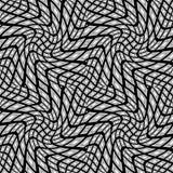 Modèle déformé par monochrome sans couture de conception illustration stock