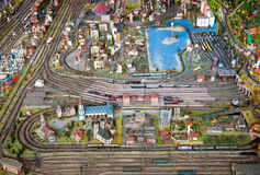 Modèle d'échelle détaillé d'une ville images libres de droits