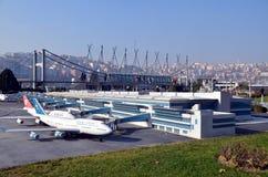 Modèle d'échelle d'aéroport d'Ataturk Images libres de droits