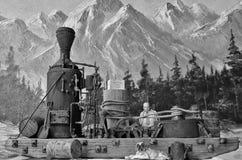 Modèle d'échelle de G d'un âne de vapeur Photographie stock
