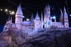 Modèle d'échelle de Hogwarts, Warner Bros Studio Photos stock