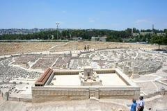 Modèle d'échelle de Jérusalem pendant la deuxième période de temple, Israel Museum photos stock