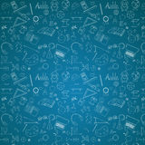Modèle d'école sur le fond bleu de tableau Photo stock