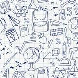 Modèle d'école sur une feuille de carnet Photos libres de droits