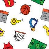 Modèle d'éléments de basket-ball Photos libres de droits