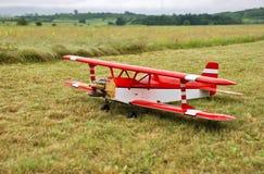 Modèle d'aéronefs atterri Photo libre de droits