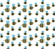 Modèle d'abeille sur le fond clair Image libre de droits
