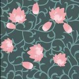 Modèle d'abrégé sur Lotus sans couture Photos stock