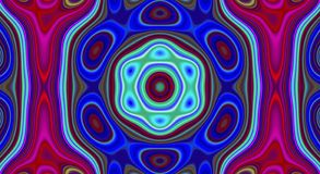 Modèle d'abrégé sur symétrie et fond psychédéliques d'hypnotique, papier peint d'art illustration libre de droits