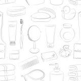 Modèle d'accessoires de Bath Photo stock