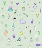Modèle d'accessoires de cuisine Image libre de droits