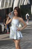 Modèle d'affichage de produit dans la ville centrale nanshan de Shenzhen Photographie stock libre de droits