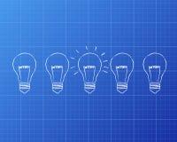 Modèle d'ampoules illustration de vecteur