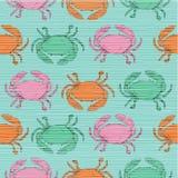 Modèle d'amusement de crabe de griffonnage avec la rayure Image stock