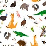 Modèle d'animaux d'Australie illustration de vecteur