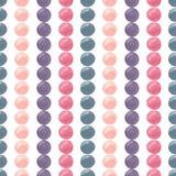 Modèle d'aquarelle avec les cercles colorés lumineux Pour la copie, la conception, le textile et le fond D'isolement sur le blanc Photos stock