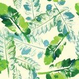 Modèle d'aquarelle de fond sans couture de texture de feuilles Image stock