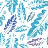 Modèle d'aquarelle de fond sans couture de texture de feuilles Photos stock