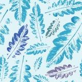 Modèle d'aquarelle de fond sans couture de texture de feuilles Images stock