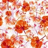 Modèle d'aquarelle de fond sans couture de texture de feuilles Photographie stock libre de droits