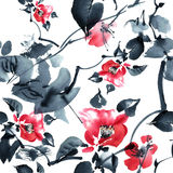 Modèle d'arbre de fleur Image libre de droits