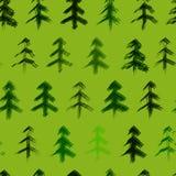 Modèle d'arbres de Noël Images libres de droits